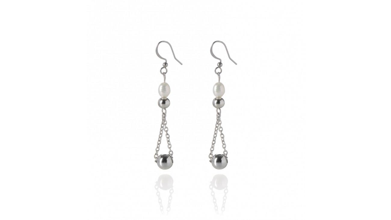 boucle d 39 oreille perle d 39 eau douce boutique en ligne bijoux cr ation lou. Black Bedroom Furniture Sets. Home Design Ideas