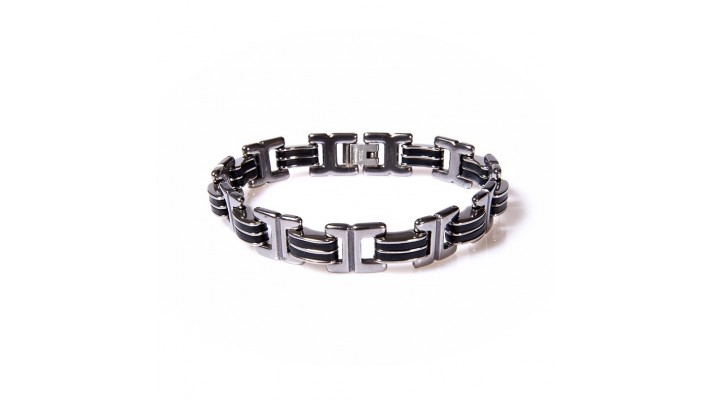 Bracelet Silicone -Maille Acier Inoxydable